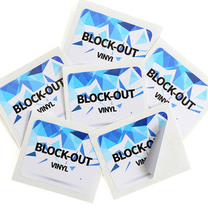 Block Out <br> Labels Printed Stickers