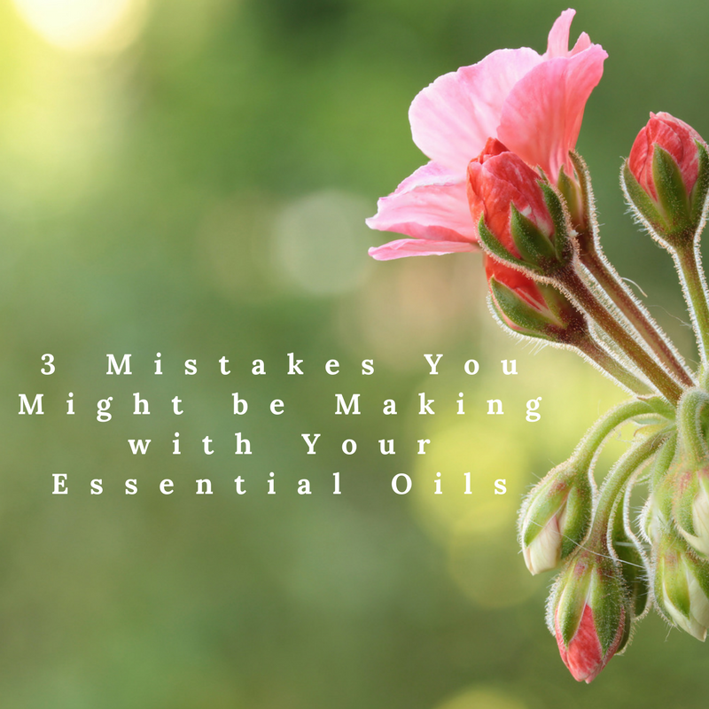 Are You Making These 3 Mistakes with Your Essential Oils?