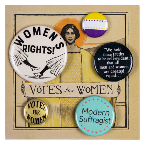 Votes For Women Button Set