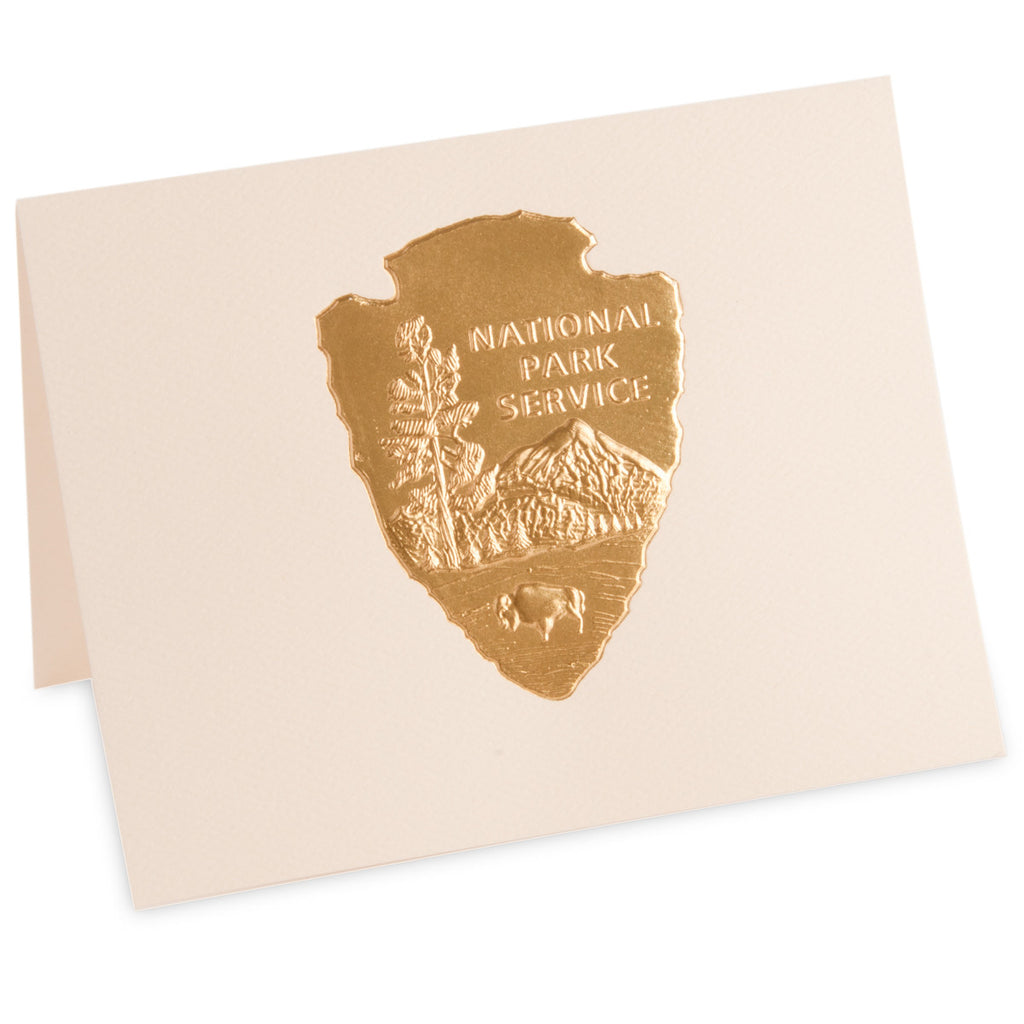 arrowhead gold embossed note cards - Embossed Note Cards