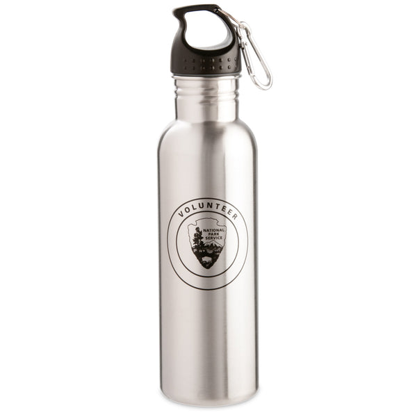 Stainless Steel VIP Water Bottle with Carabiner