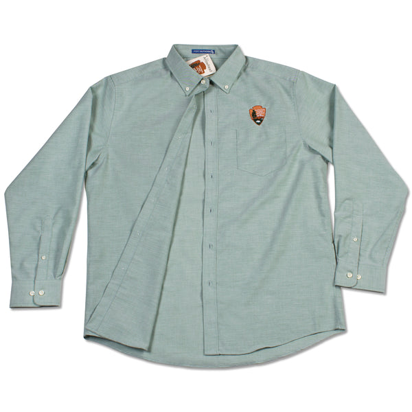 Arrowhead Men's Green Oxford Dress Shirt