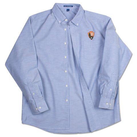 Arrowhead Men's Blue Oxford Dress Shirt