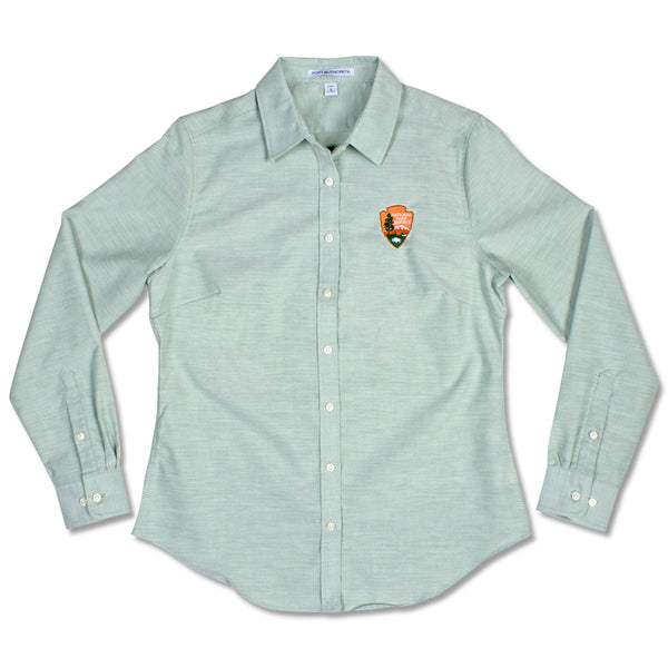 Arrowhead Women's Green Oxford Dress Shirt