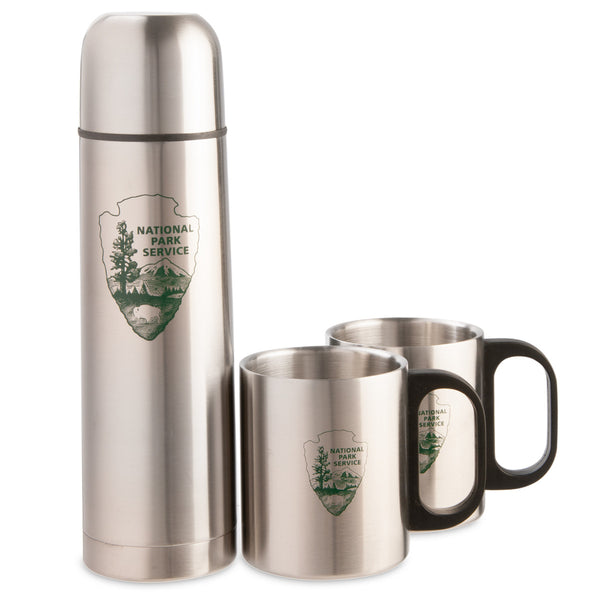 Arrowhead Stainless Steel Thermos and Mug Set