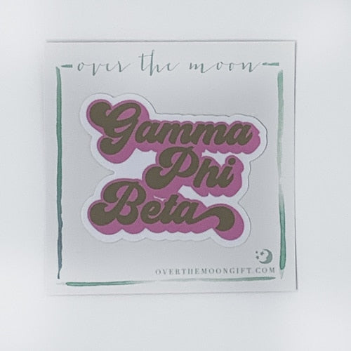 Gamma Phi Beta Retro Decal