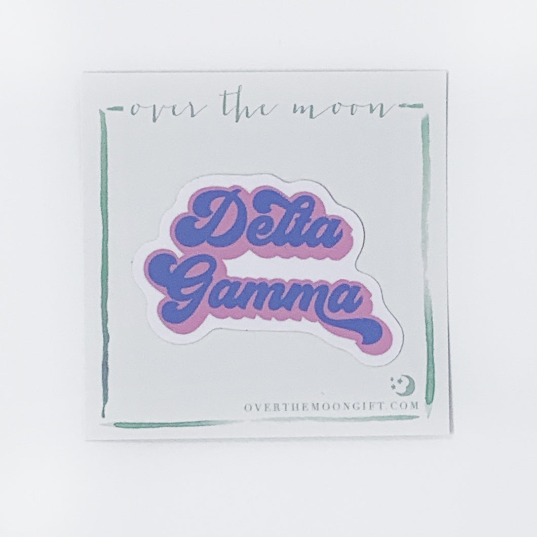 Delta Gamma Retro Decal