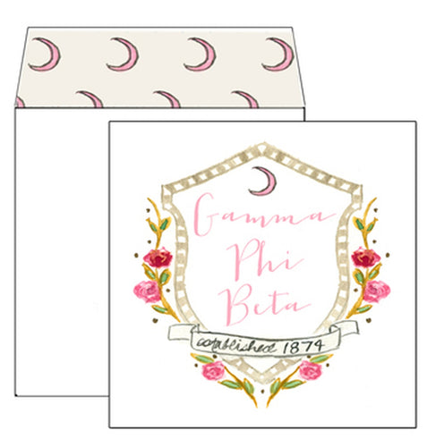 Gamma Phi Beta Motif Greeting Card