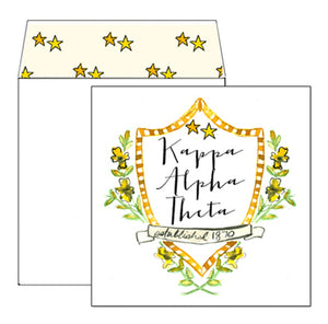 Kappa Alpha Theta Motif Greeting Card