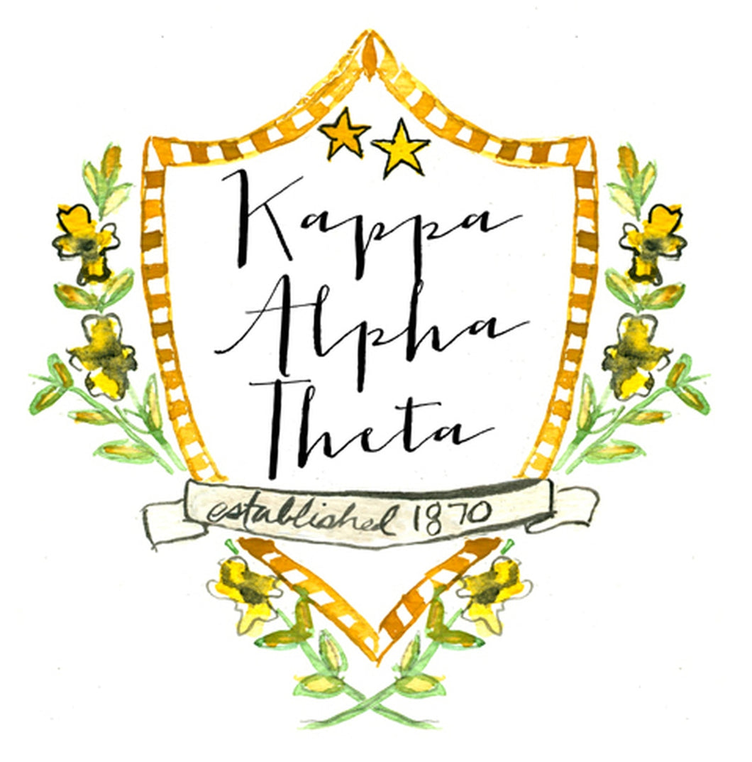 Kappa Alpha Theta Motif Decal