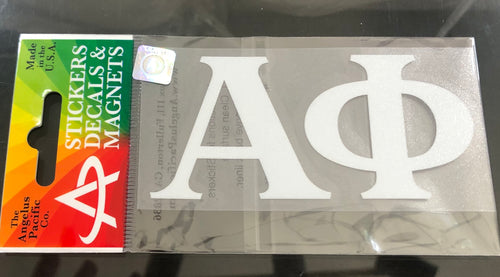 Alpha Phi White Car Decal