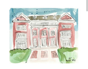 Delta Gamma Watercolor House Painting