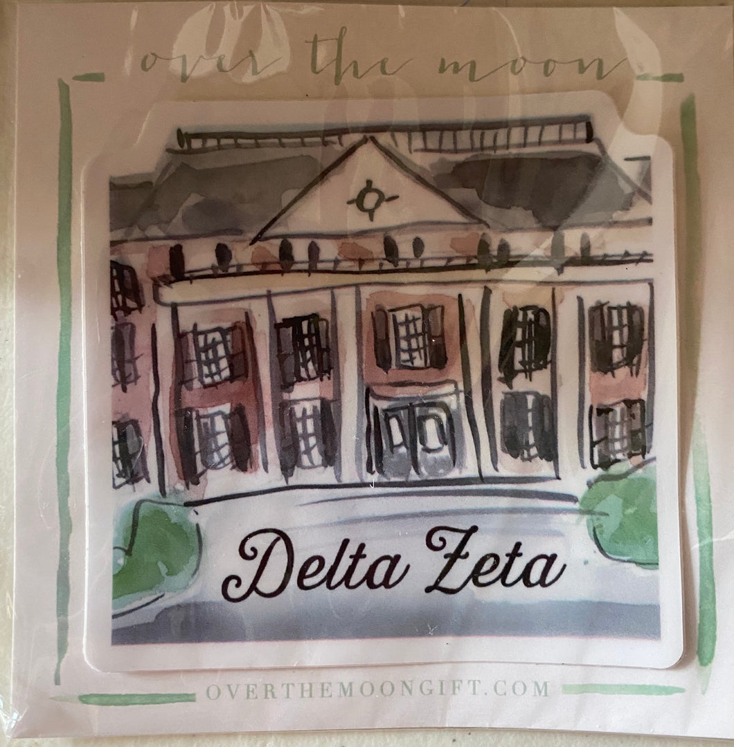 Delta Zeta House Sticker