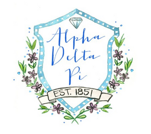 Alpha Delta Pi Motif Decal
