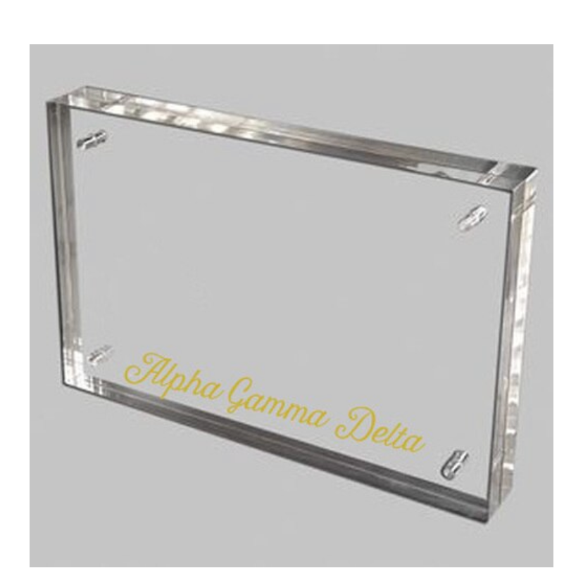 Alpha Gamma Delta Gold and Acrylic picture frame