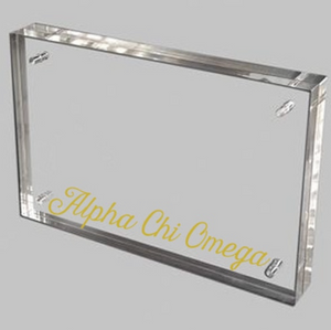 Alpha Chi Omega Gold and Acrylic picture frame
