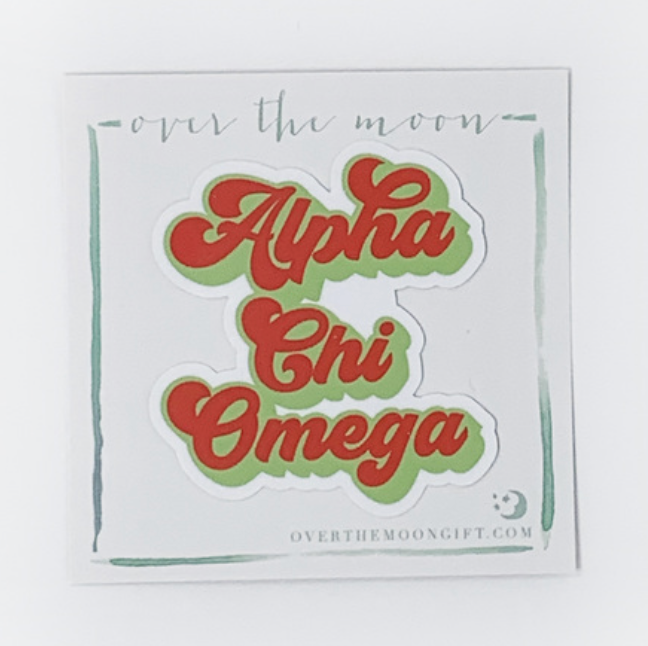Alpha Chi Omega Retro Decal