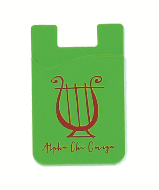 Alpha Chi Omega Cell Phone Wallet