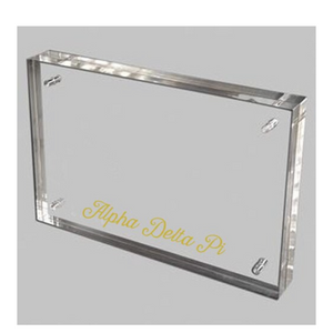 Alpha Delta Pi  Gold and Acrylic picture frame