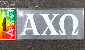Alpha Chi Omega White Car Decal