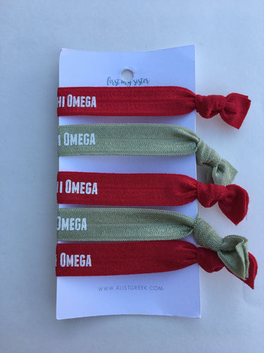 Alpha Chi Omega Hair Tie