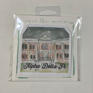Alpha Delta Pi Alabama Sorority House Decal