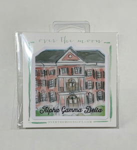 Alpha Gamma Delta Sorority House Decal