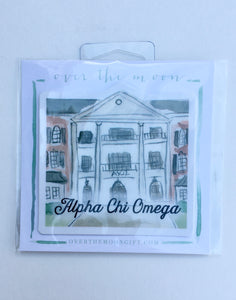 Alpha Chi Omega Sorority House Decal