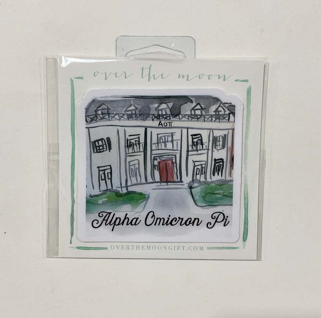 Alpha Omicron Pi Sorority House Decal