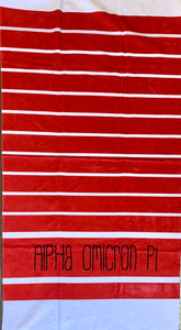 Alpha Omicron Pi Beach Towel