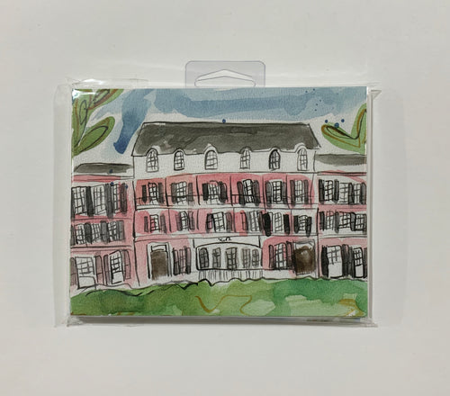 Chi Omega Sorority House Notecard Set