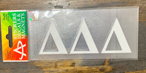 Delta Delta Delta White Car Decal