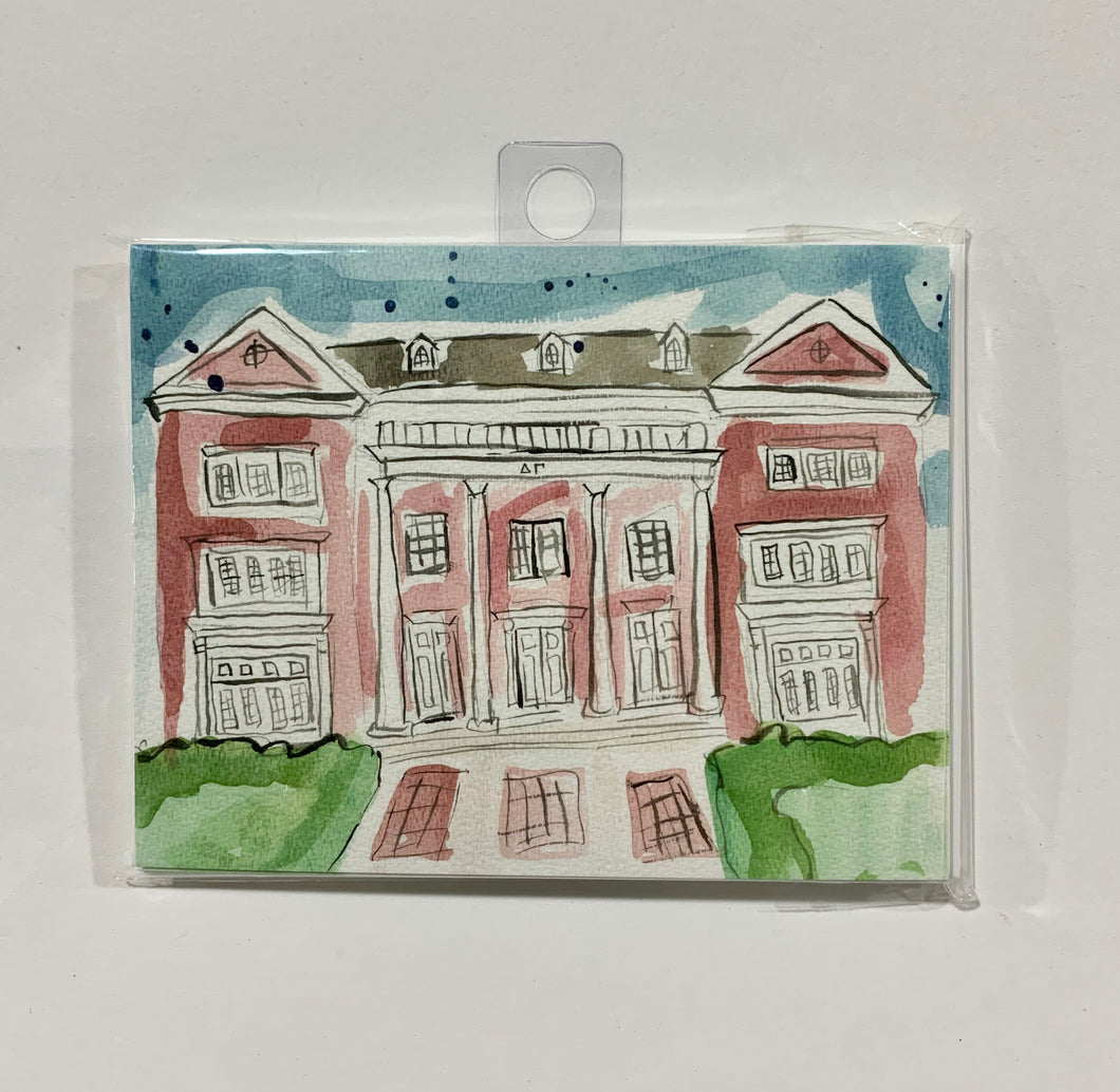 Delta Gamma Sorority House Notecard Set