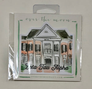 Zeta Tau Alpha House Decal