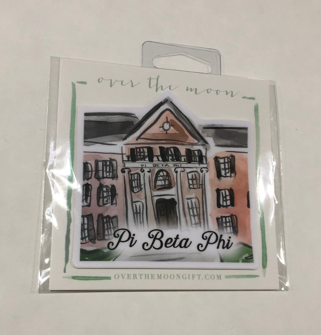 Pi Beta Phi House Decal