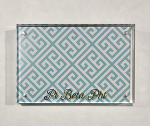 Pi Beta Phi Gold and Acrylic Picture Frame