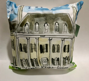 Kappa Kappa Gamma Watercolor House Pillow