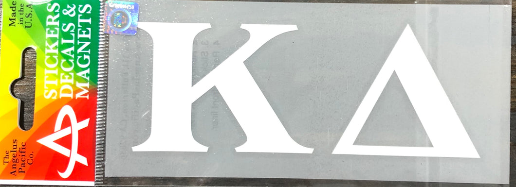 Kappa Delta White Car Decal