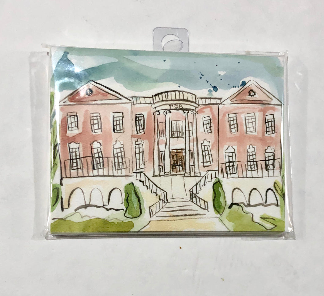 Gamma Phi Beta Sorority House Notecard Set