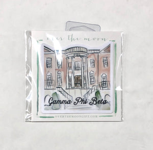 Gamma Phi Beta Sorority House Decal