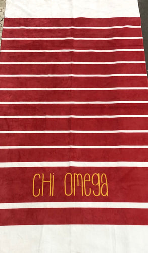 Chi Omega  Beach Towel