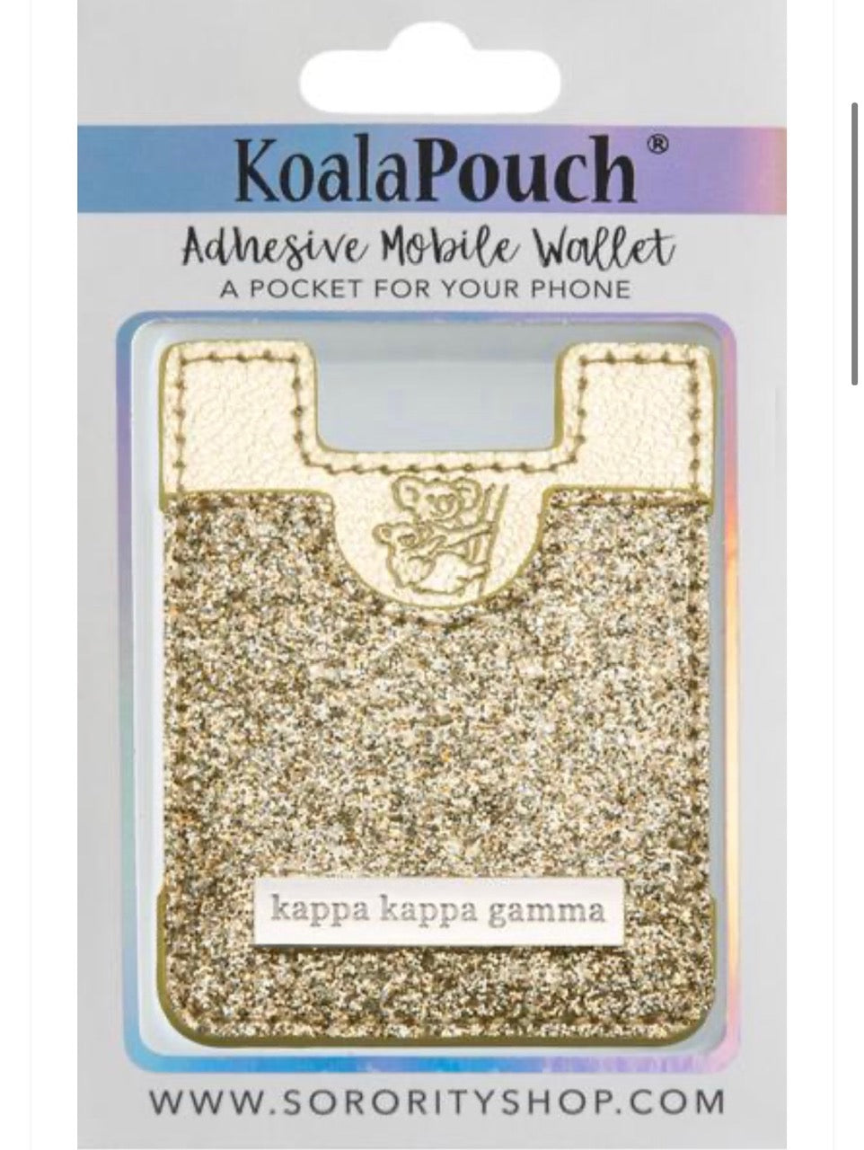 Kappa Kappa Gamma Sparkle Phone Wallet-Gold