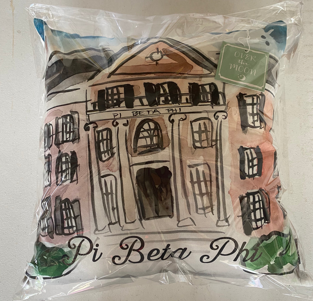 Pi Beta Phi House Pillow