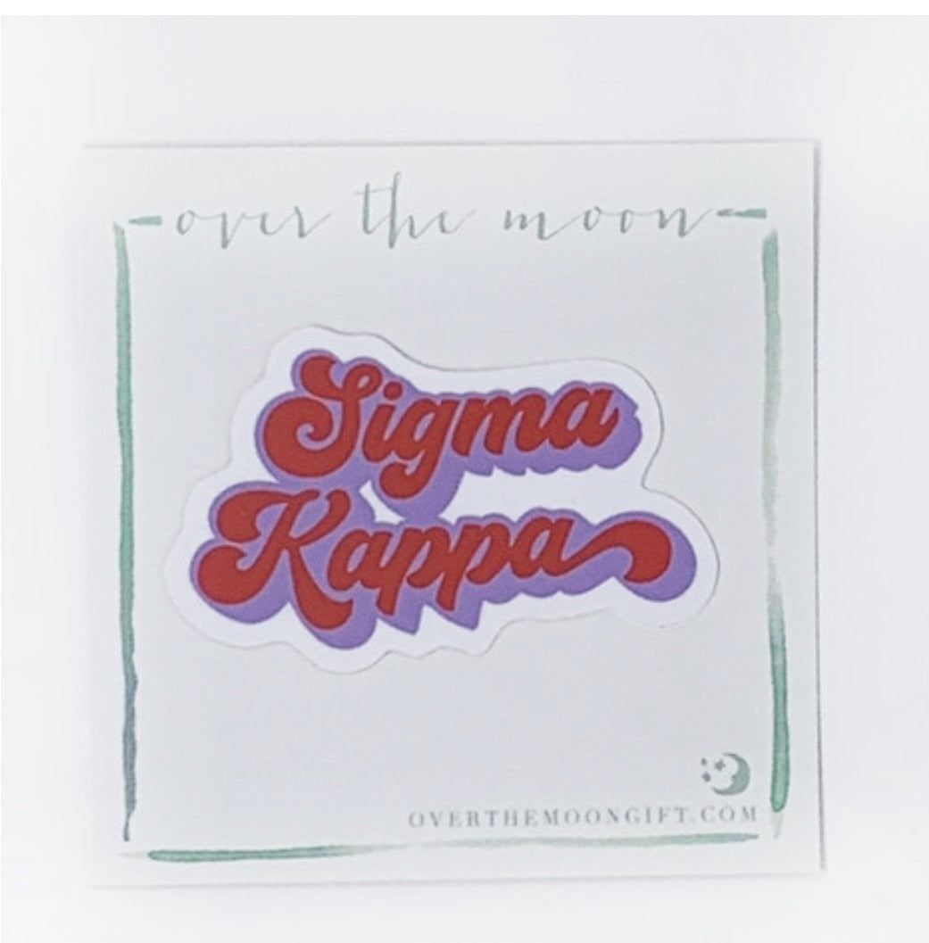 Sigma Kappa Retro Decal