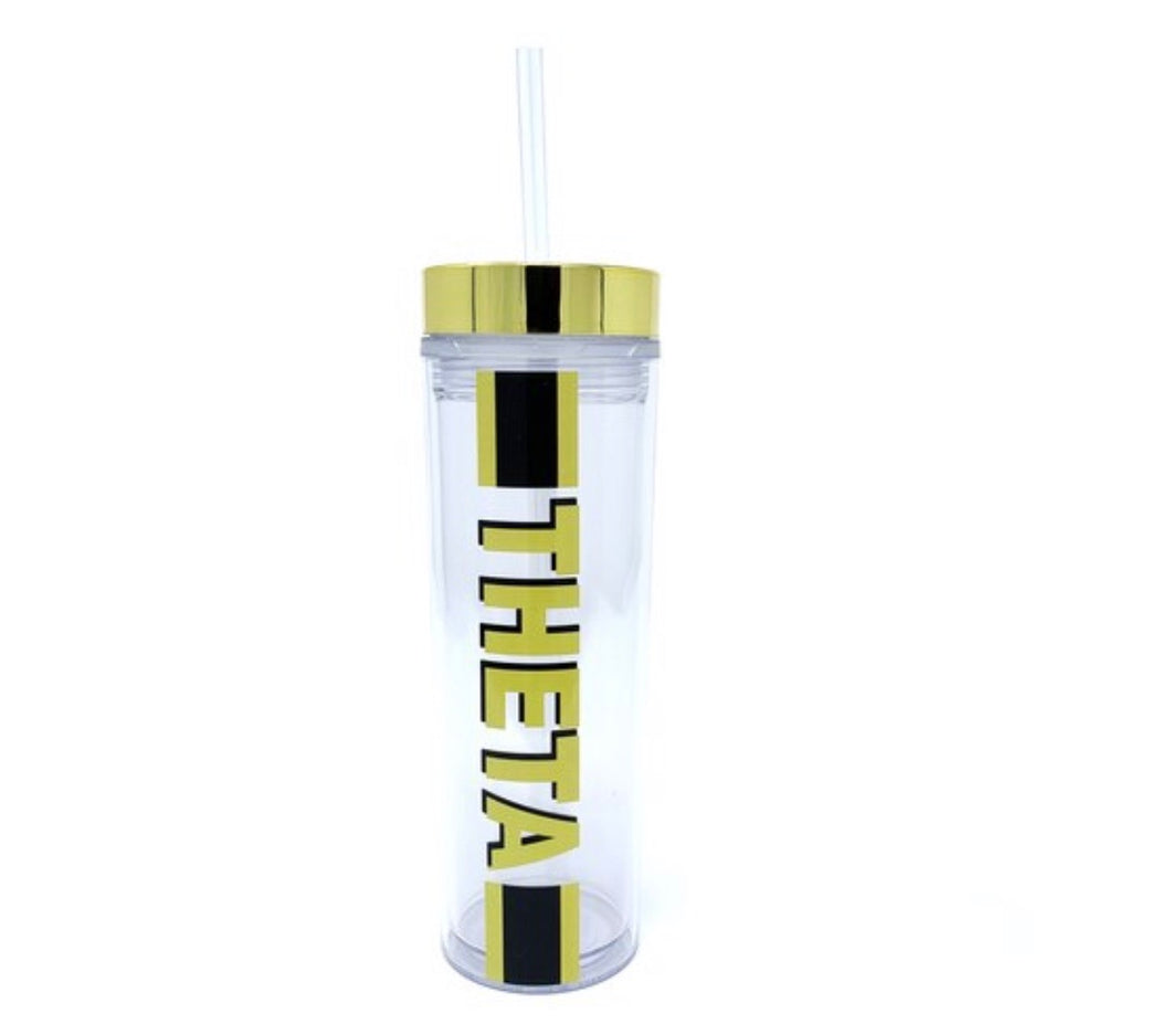 Kappa Alpha Theta clear water bottle