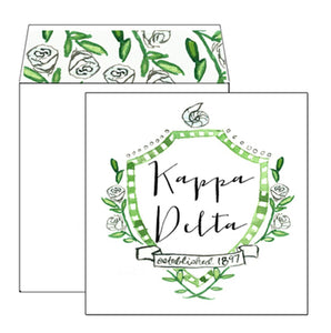 Kappa Delta Motif Greeting Card