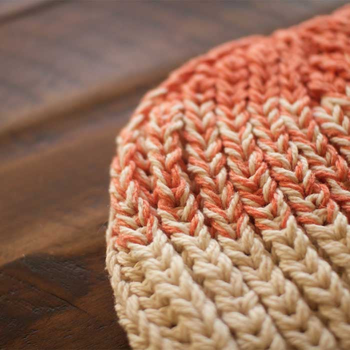Santiago Two Color Transition Detail (Shown in Zephyr Colors Coral and Sand Dollar)