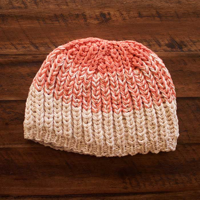 Santiago Fisherman Rib Hat (Shown in Zephyr Colors Coral and Sand Dollar)