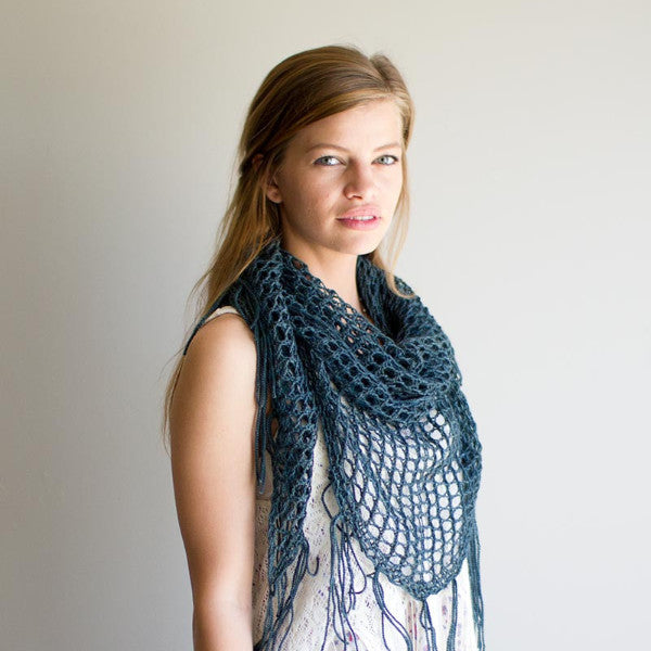 Sweetgum Knit Openwork Shawl Argyle Sheep