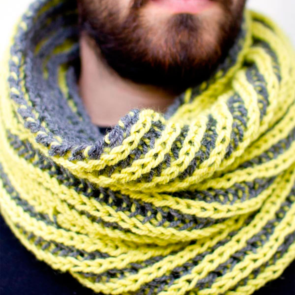 Razorback :: Two Color Brioche Cowl | Argyle Sheep